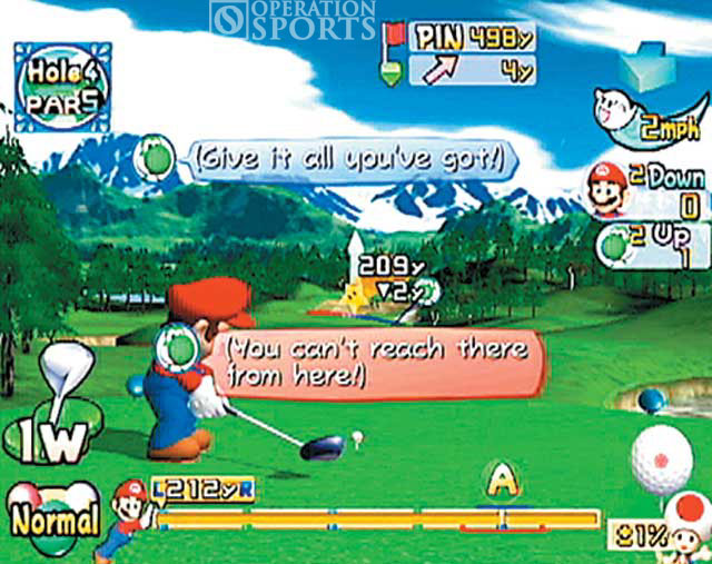 Mario Golf: Toadstool Tour Screenshot #1 for NGC