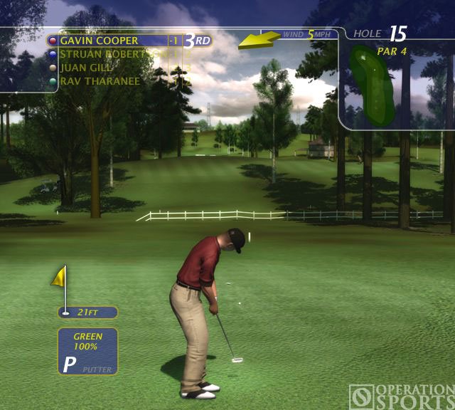ProStroke Golf - World Tour 2007 Screenshot #1 for PC