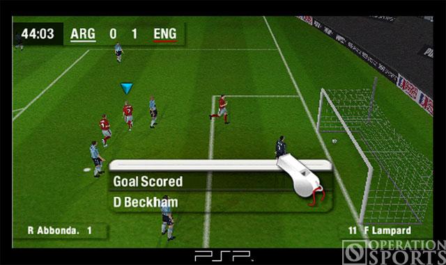 World Tour Soccer Screenshot #1 for PSP