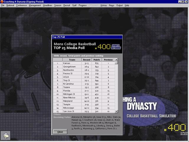 Coaching a Dynasty Screenshot #1 for PC