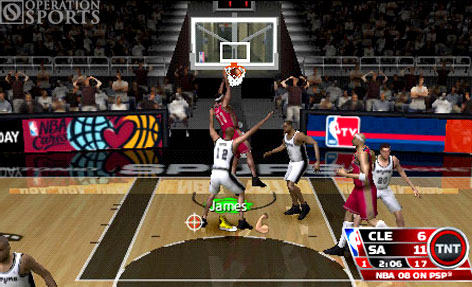 NBA '08 Screenshot #1 for PSP