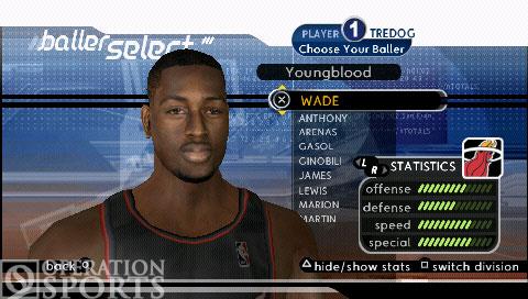 NBA Ballers: Rebound Screenshot #2 for PSP