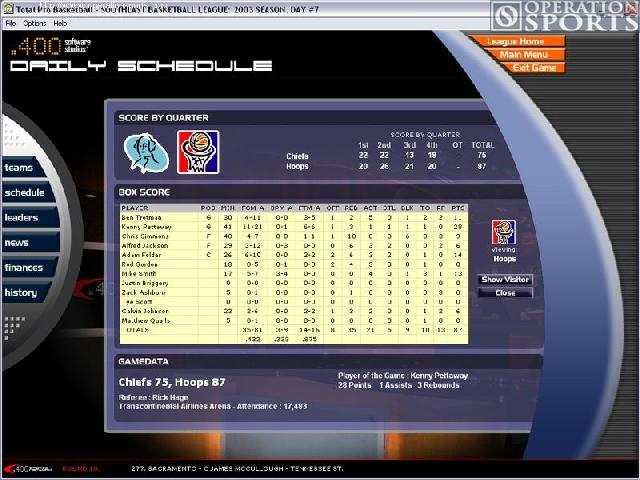 Total Pro Basketball Screenshot #2 for PC