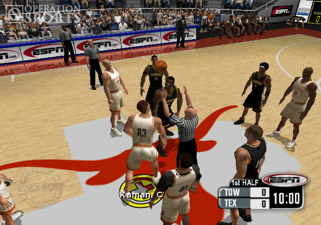 NCAA 2K3 College Basketball Screenshot #2 for PS2