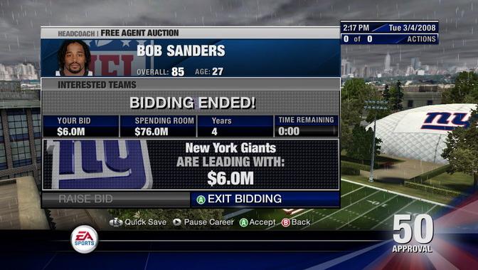 NFL Head Coach 09 Screenshot #13 for Xbox 360