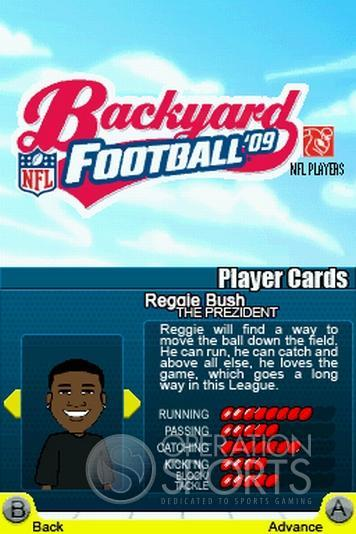 Backyard Football '09 Screenshot #15 for NDS
