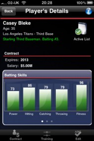 Baseball Manager 2010 screenshot #1 for Wireless - Click to view