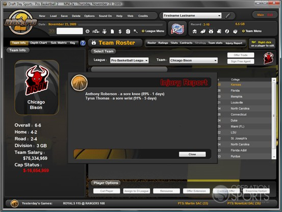 Draft Day Sports Pro Basketball 2 Screenshot #4 for PC