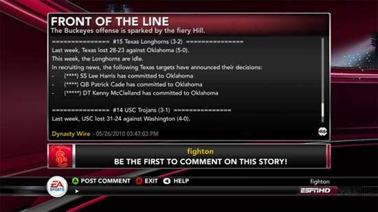 NCAA Football 11 Screenshot #129 for Xbox 360