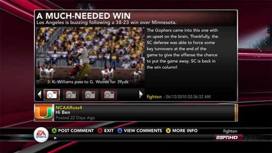 NCAA Football 11 Screenshot #130 for Xbox 360