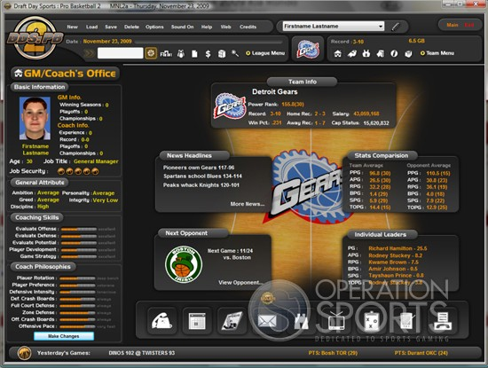 Draft Day Sports Pro Basketball 2 Screenshot #3 for PC
