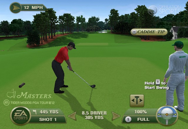 Tiger Woods PGA TOUR 12: The Masters Screenshot #1 for Wii