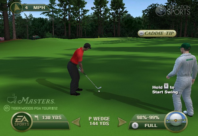 Tiger Woods PGA TOUR 12: The Masters Screenshot #2 for Wii