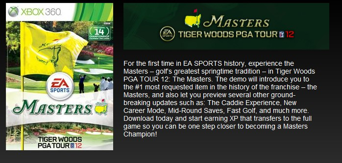 Tiger Woods PGA TOUR 12: The Masters Screenshot #116 for Xbox 360