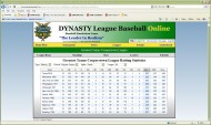 Dynasty League Baseball Online screenshot #20 for PC - Click to view