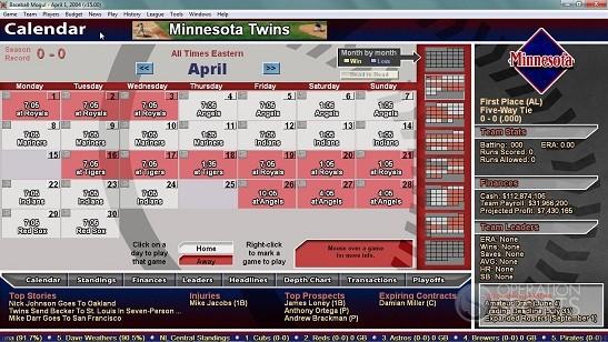 Baseball Mogul 2013 Screenshot #1 for PC