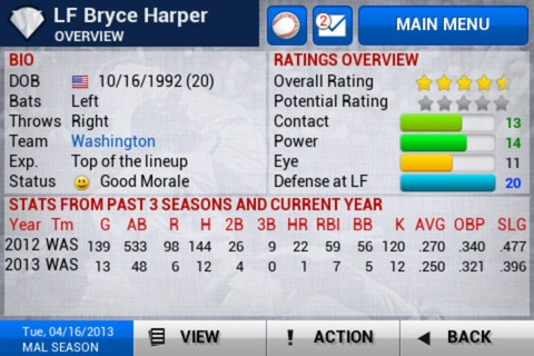 iOOTP Baseball 2013 Screenshot #3 for iOS