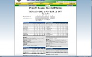 Dynasty League Baseball Online screenshot #39 for PC - Click to view