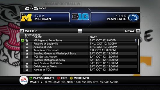 NCAA Football 14 Screenshot #178 for PS3