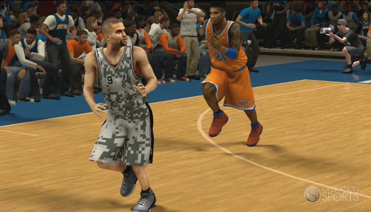 NBA 2K14 Knicks Orange Alternates & Spurs Military Uniforms ...