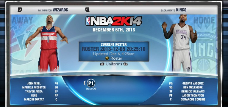 NBA 2K14 Roster Update Available Now For Xbox One and PS4