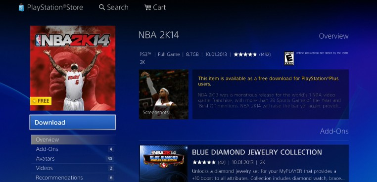 NBA 2K14 Free for PS Plus Subscribers - Available Now (PS3 Only