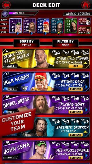 WWE SuperCard Screenshot #3 for iOS