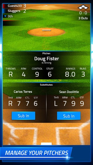 Tap Sports Baseball Screenshot #1 for iPhone, iPad