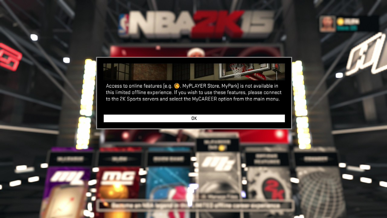 NBA 2K15 Server Issue Affecting Users, VC Lost and More - Operation