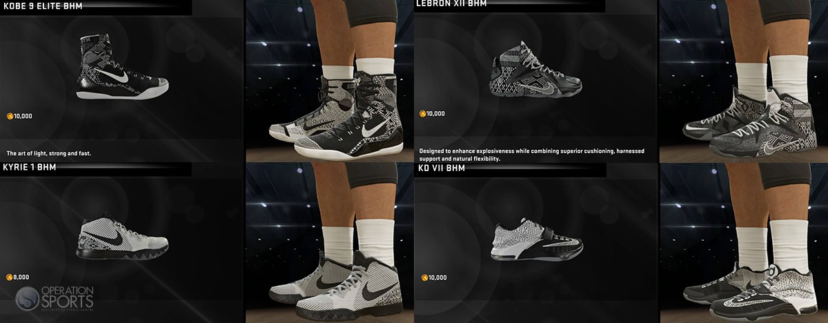 sports shoes 2dab5 a0e85 Nike Black History Month Shoes Available Now in NBA 2K15 ...