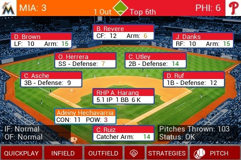 MLB Manager 2015 Screenshot #1 for iPhone, iPad, Android, iOS