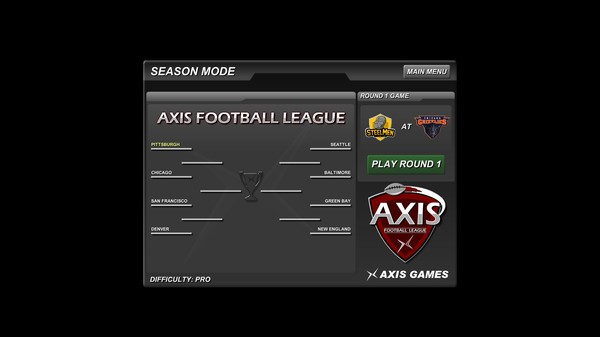 Axis Football 2015 Screenshot #1 for PC