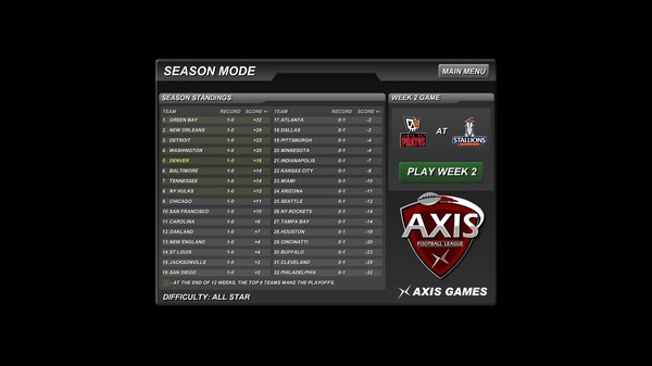 Axis Football 2015 Screenshot #2 for PC