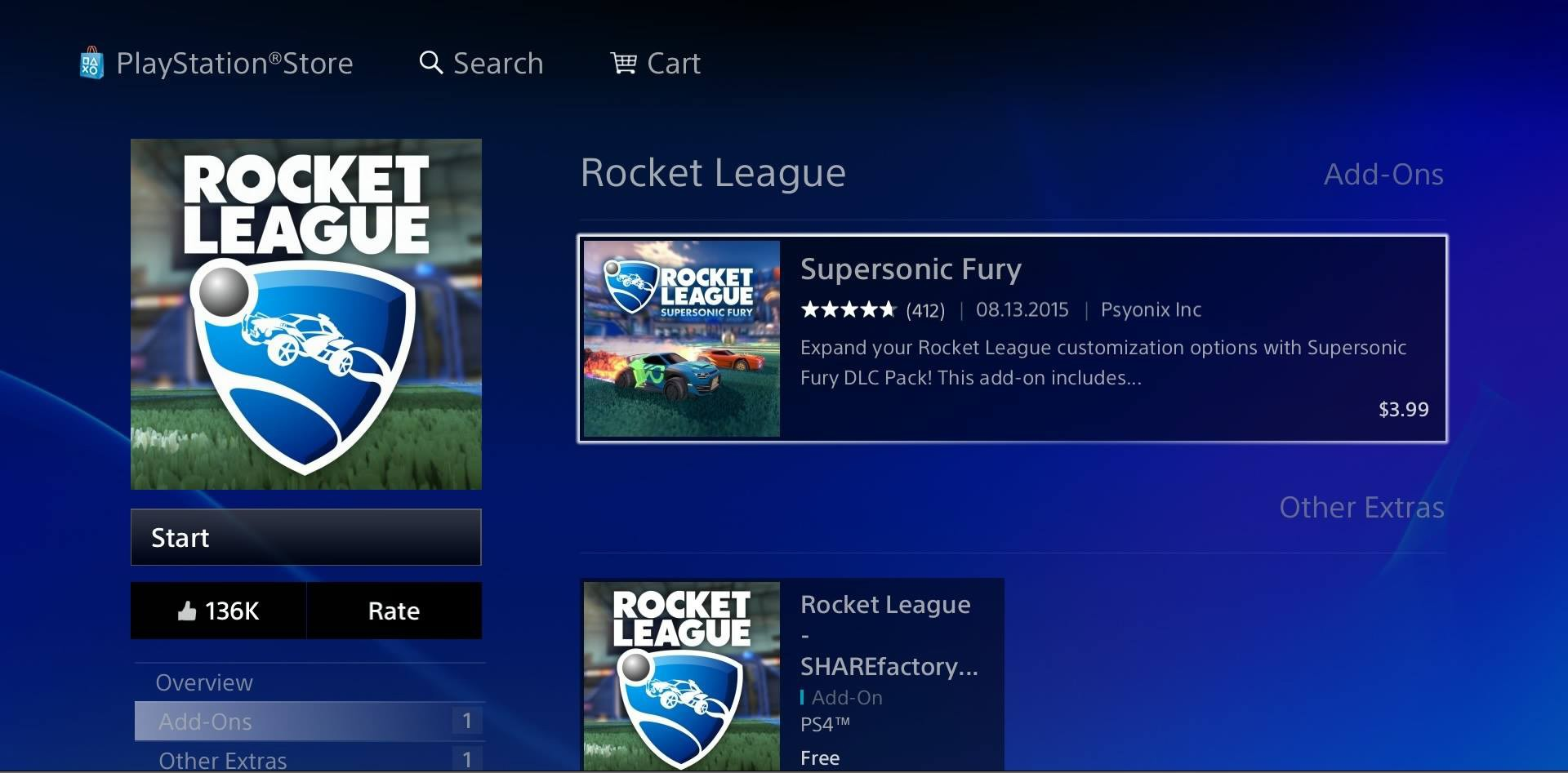 is rocket league free on ps4