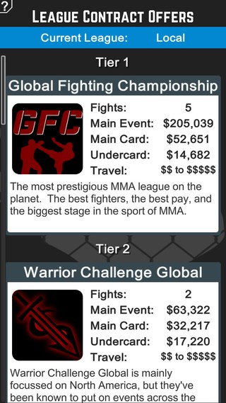 MMA Manager Screenshot #1 for iOS