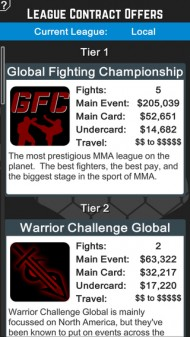 MMA Manager screenshot #1 for iOS - Click to view