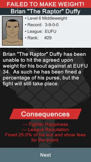 MMA Manager Screenshot #4 for iOS