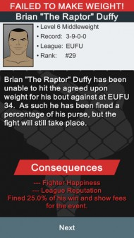 MMA Manager screenshot #4 for iOS - Click to view