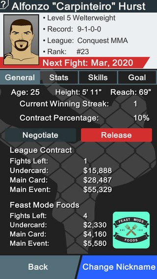 MMA Manager Screenshot #7 for iOS