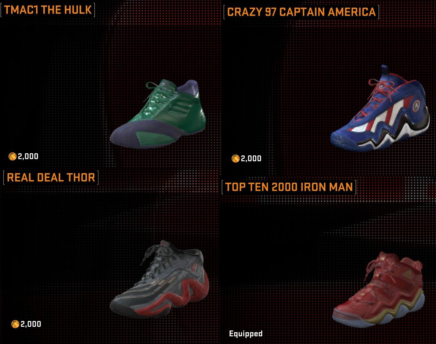 As Mentioned Last Night Marvel Apparel Has Made Its Way Into Nba 2k16 Seen In The Images There Are Quite A Few Hoos Jerseys And Shoes Available