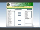 Dynasty League Baseball Online Screenshot #38 for PC - Click to view