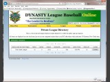 Dynasty League Baseball Online Screenshot #49 for PC - Click to view