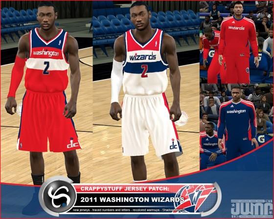 sports shoes 0b17b 417c1 NBA 2K11 - New Washington Wizards Jersey Update (PC ...