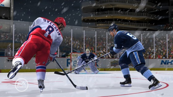 более вероятно, нанесут удар во время прорыва(стремительного движения) к воротам - NHL 12