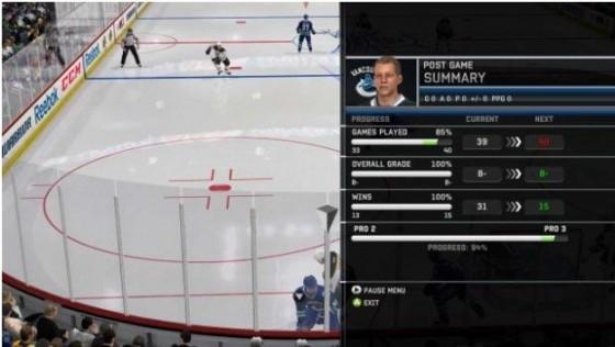 Pro Progression - общий прогресс игрока - новое - NHL 12