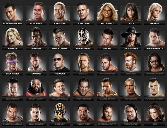 THQ has revealed most of the WWE 12 roster. 63 of them so far, another ...