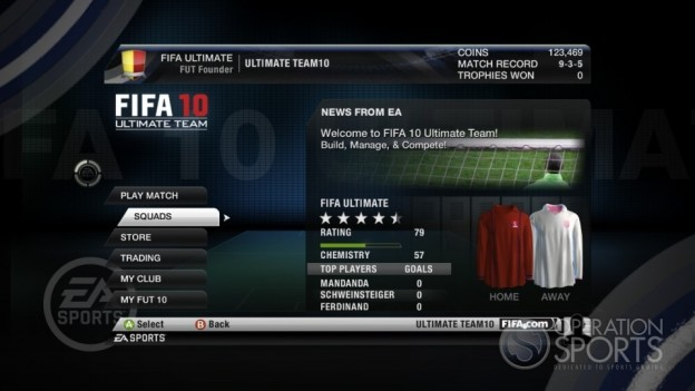 FIFA 10 Ultimate Team Screenshot #1 for Xbox 360