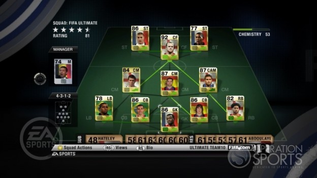 FIFA 10 Ultimate Team Screenshot #2 for Xbox 360