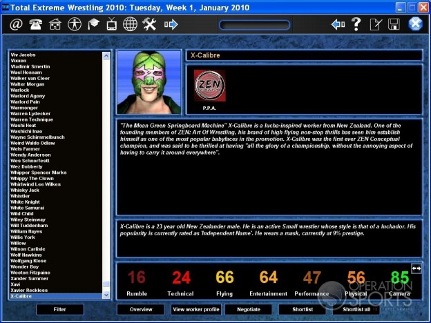 Total Extreme Wrestling 2010 Screenshot #1 for PC