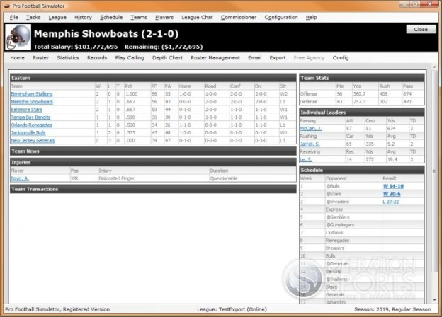 Professional Football Simulator Screenshot #10 for PC